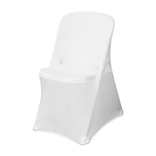 Housse blanche pour chaise pliante