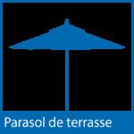 Icône parasol de terrasse